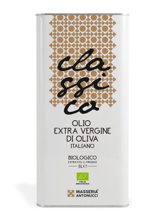 Olio Extravergine di Oliva Biologico Italiano - Classico - Masseria Antonucci